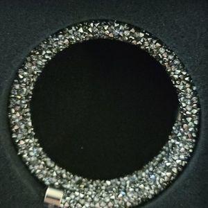 Gray Swarovski crystaldust bracelet